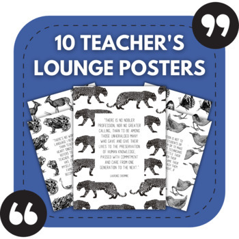 10 Inspiring Teacher's Lounge Posters - Great for Staff Bulletin Boards