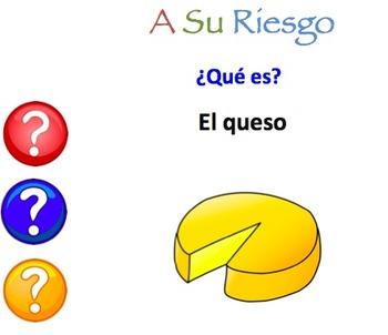 10 Interactive Spanish Vocabulary Powerpoint Activities (A su riesgo!)