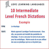 10 Intermediate Level French Dictées