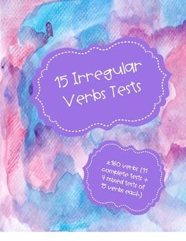 10 Irregular Verb Tests