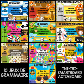 10 Jeux de grammaire TNI interactifs