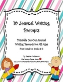 10 Journal Writing Prompts