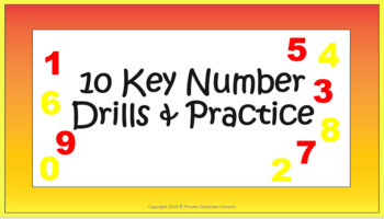 10 Key Number Pad Drills & Practice