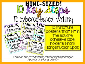10 Key Steps to Evidence-Based Writing- Square Adhesive Label Set