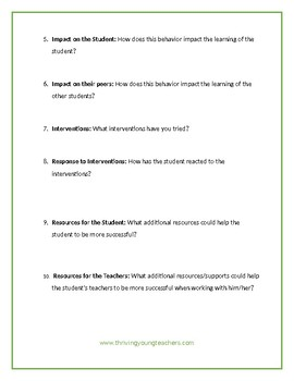 10 Key Talking Points When Discussing A Student's Behavior