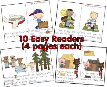 10 Kindergarten Early Readers (Based on Dolch Primer Sight Words)