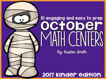 10 Kindergarten October Math Centers