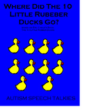 """10 LITTLE RUBBER DUCKS ADAPTED book, """"wh"""" questions, bw printable book,"""