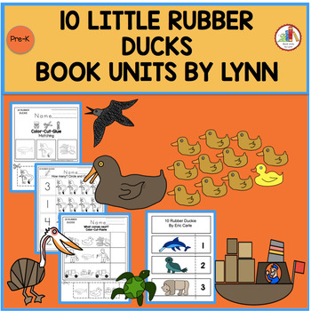 10 LITTLE RUBBER DUCKS BOOK UNIT