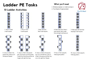 10 Ladder PE Activities - Free Resource