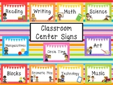11 Large Printable Classroom Center Signs. Class Accessories.