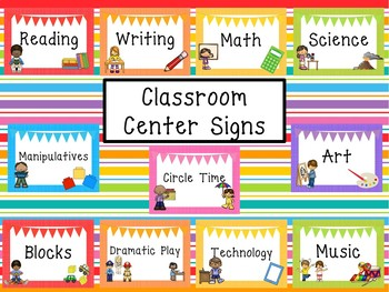 This is an image of Universal Free Printable Preschool Center Labels