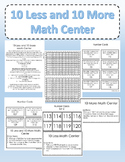 10 Less and 10 More Math Center