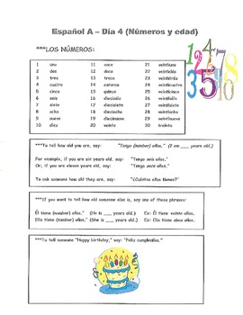 10 Lesson Pack: Intro to Spanish (Espanol A y B - Notes & Practice Sheets)
