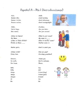 10 Lesson Pack: Intro to Spanish (Espanol A y B - Notes &