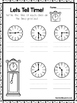 10 Let's Tell Time Worksheets. Write the Correct Time. Pre