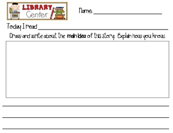 10 Library Center Follow Ups for Literacy Centers