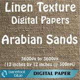 10 Linen Background Texture Digital Paper, Arabian Sands