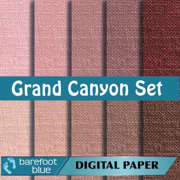 10 Linen Background Texture Digital Paper, Grand Canyon