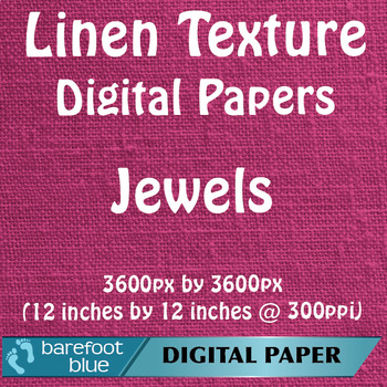 10 Linen Background Texture Digital Paper, Jewels