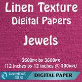 10 Linen Background Texture Digital Paper, Jewels