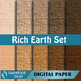 10 Linen Background Texture Digital Paper, Rich Earth