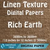 10 Linen Background Texture Digital Paper, Rich Earth