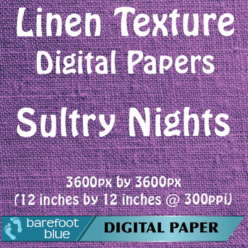 10 Linen Background Texture Digital Paper, Sultry Nights
