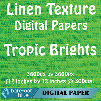 10 Linen Background Texture Digital Paper, Tropic Brights