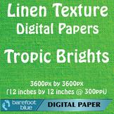 10 Linen Background Texture Digital Paper, Tropic Brights