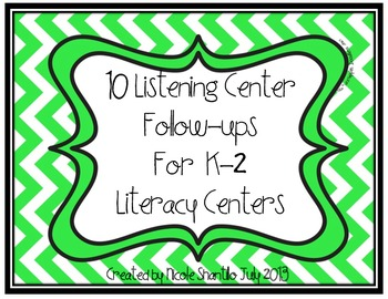 10 Listening Center Follow Ups for Literacy Centers