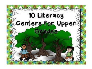 10 Literacy Activities for Upper Grades - Camping Theme