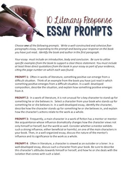 10 Literary Response Writing Prompts that Work with ANY Book