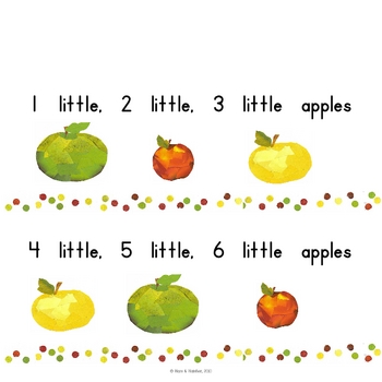 10 Little Apples Interactive Book - Printable