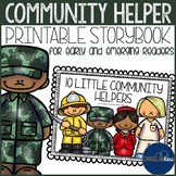 Community Helpers Printable Storybook for Emerging Readers - Career Education
