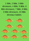 10 Little Dinosaur Babies Song Card