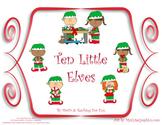 10 Little Elves Literacy and Math Center  Christmas Book