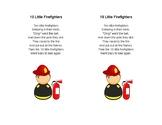10 Little Firefighters Poem