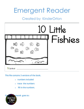 10 Little Fishies - emergent readers