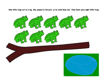 10 Little Frogs Interactive Subtraction Book Early Learner Adapted Book