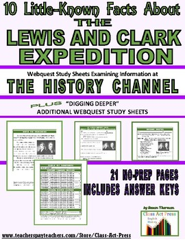 Lewis and Clark: 10 Little-Known Facts: History Chan. Webquest
