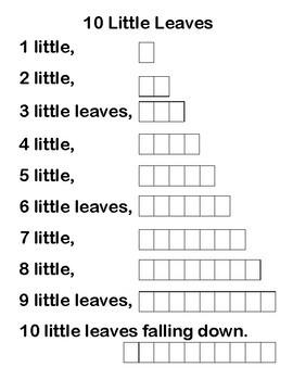 10 Little Leaves poem