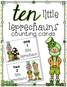 10 Little Leprechauns Counting Cards