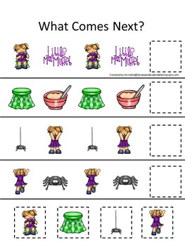 10 Little Miss Muffet themed preschool games and worksheets bundle.