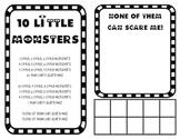 '10 Little Monsters' Ten Frames