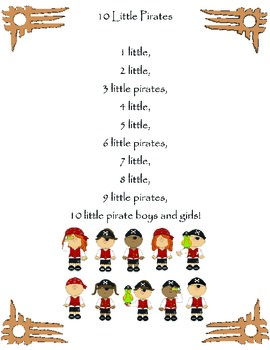 10 Little Pirates Poem / Shared Reading