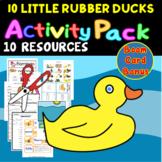 10 Little Rubber Ducks Cut & Paste Minibook