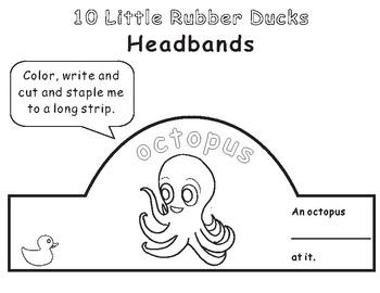 10 Little Rubber Ducks Eric Carle-Animal Headbands