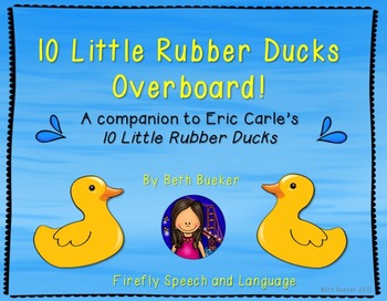 Rubber ducks teaching resources teachers pay teachers a book companion 10 little rubber ducks overboard a book companion fandeluxe Image collections
