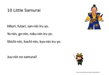 10 Little Samurai in Japanese Song and Activity
